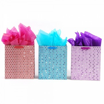 iColoris Grande Diamond Sparkle Two Tone Gift Bags