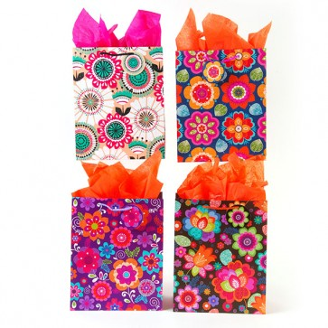 Large Flower Power Gift Bags - Assorted