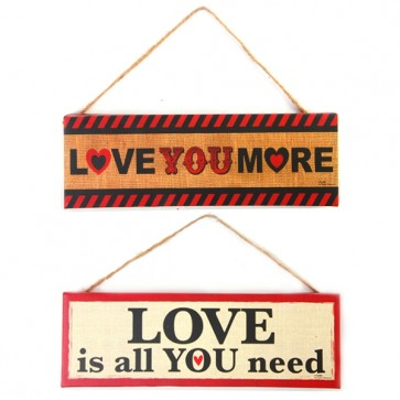 FLOMO Valentine's Day Rustic Burlap Hanging Decoration