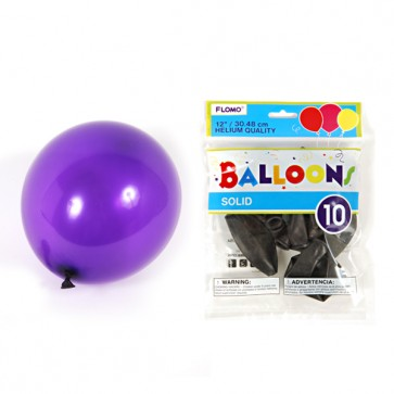 Solid Color Hot Purple Balloons