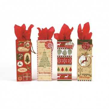 "FLOMO ""All Wrapped Up"" Christmas Bottle Bags"