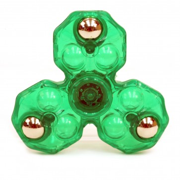 Spinfinity Crystal Clear Anti-Stress Fidget Spinner - Green