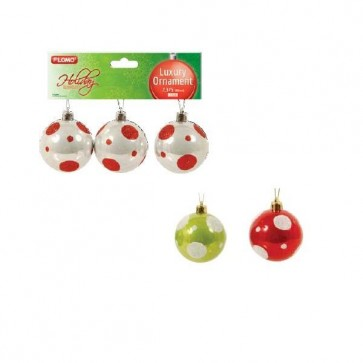 Polka Dot Pearlized Shatterproof Christmas Ornaments by Holiday Essentials