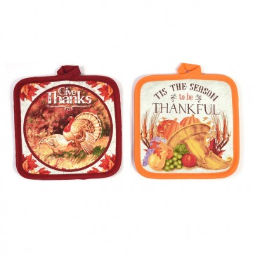 Thanksgiving Traditions Pot Holders by FLOMO