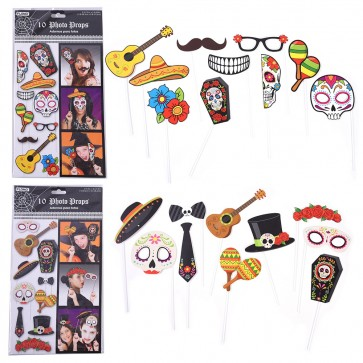 Dia De Los Muertos Day of the Dead Selfie Photo Props by FLOMO