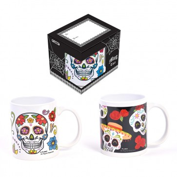Dia De Los Muertos Day of the Dead Sugar Skull Mug Set by FLOMO