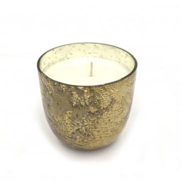 Noble Holiday Small Luxe Sanded Mercury Glass Candle - Winter White
