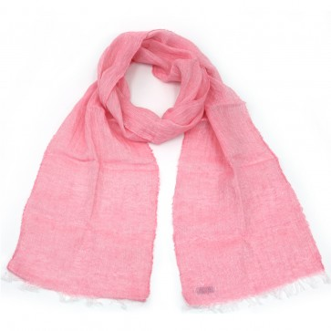 McNutt of Donegal Pale Pink Boxed Linen Scarf