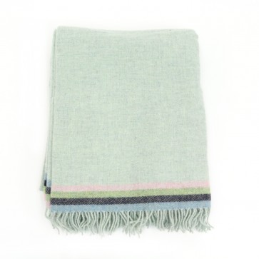 McNutt of Donegal Seacrest Stripe Wool Throw