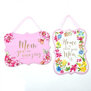 Mother's Day Floral Typography Hanging Signs by FLOMO