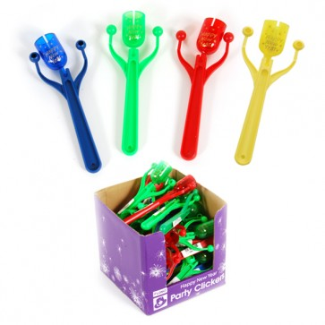 New Year Party Click Noisemakers - Assorted