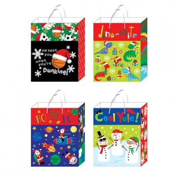 "FLOMO Large ""Playful Joy"" Christmas Gift Bags"
