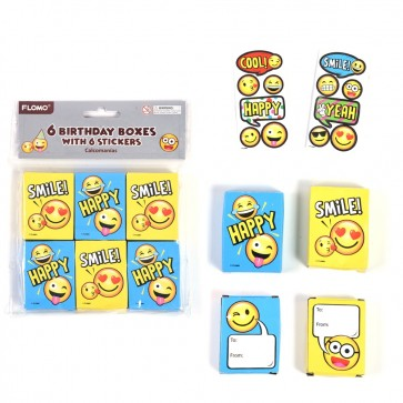 Smiley Face Sticker Boxes by FLOMO