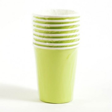 Lime Green Cups - 9 oz