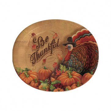 Thanksgiving Oval Plate