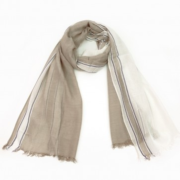 The Royal Standard Marley Scarf in Taupe/White