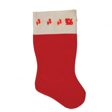 FLOMO Light Up Reindeer Christmas Stocking