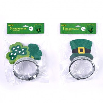 St. Patrick's Day Glitter Headbands by FLOMO