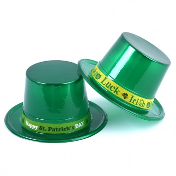 St. Patrick's Day Metallic Hat with Band by FLOMO