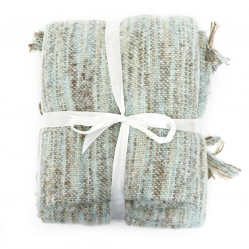 Faux Mohair Throw with Fringe - Aqua by Saro Lifestyle
