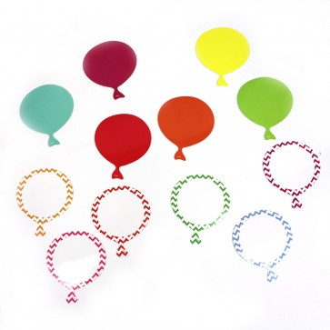 Dry erase Birthday Balloon Shape Cutouts