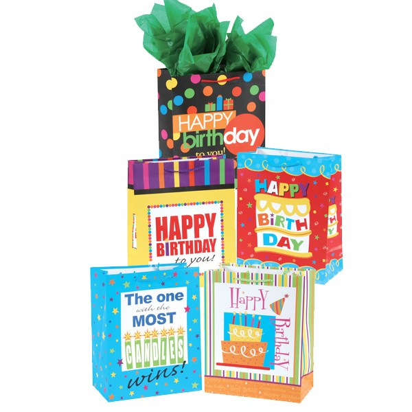 Large Happy Birthday Gift Bags