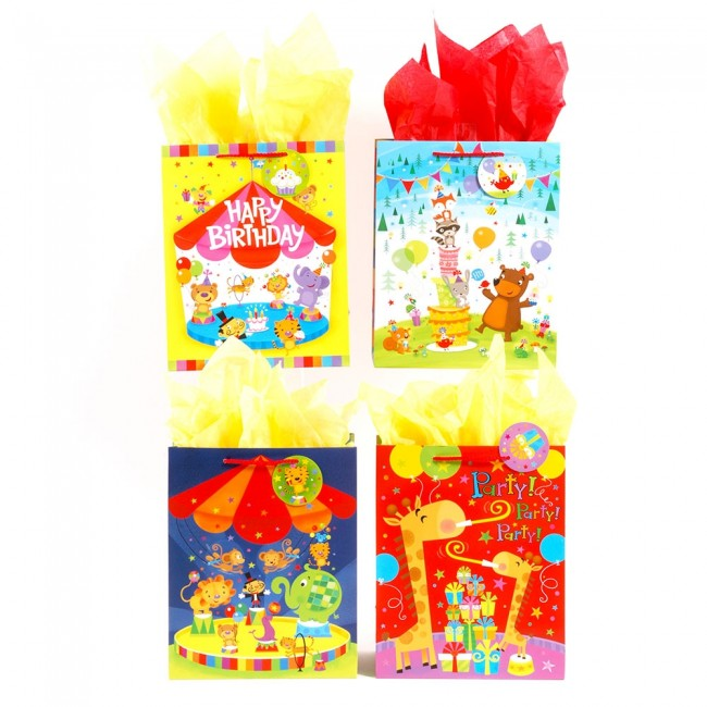 FLOMO Large Circus Party Birthday Gift Bags