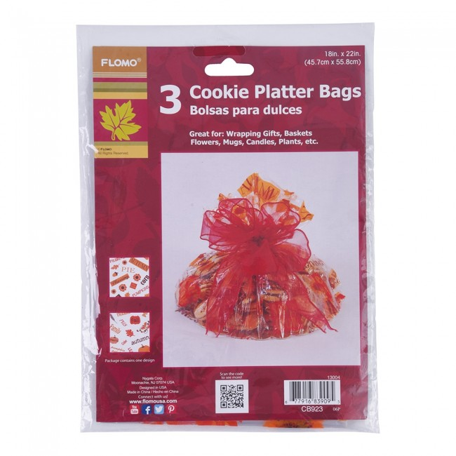 Thanksgiving Cookie Cellophane Basket Bags by FLOMO · Zoom