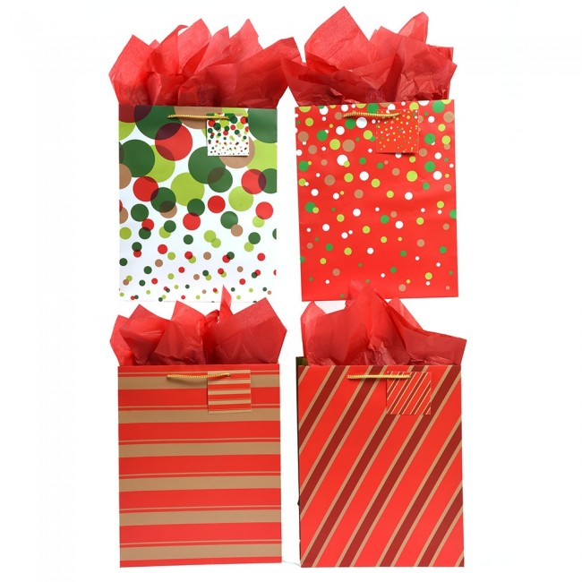 Christmas Gift Bags Images.Extra Large Dotty Stripe Christmas Gift Bags By Flomo