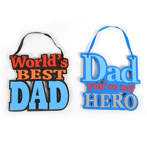 Father S Day Hanging Decoration With Ribbon 8 8 X 8 5
