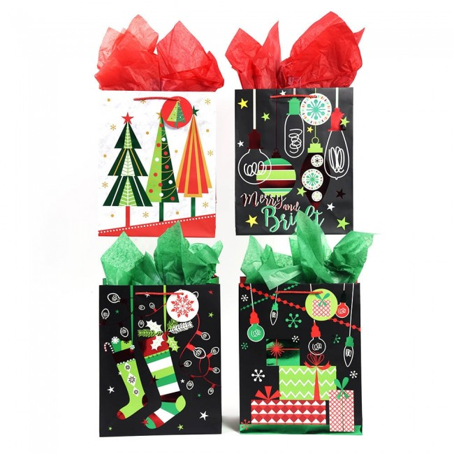 large retro christmas gift bags by flomo