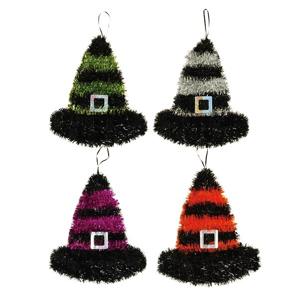 Halloween Witch Hat Tinsel Decoration By Flomo