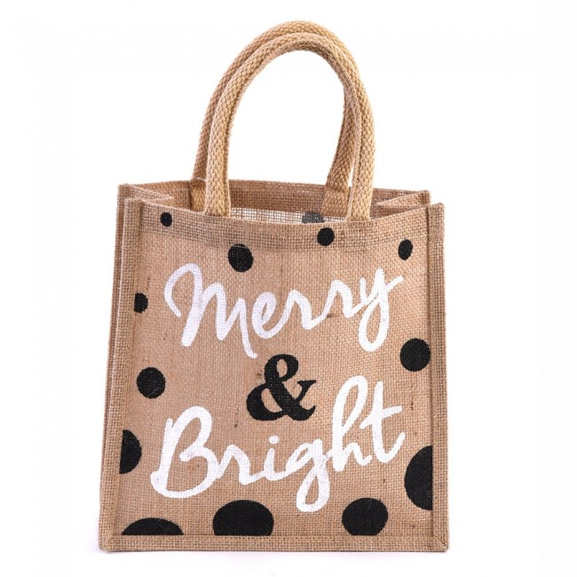 jute burlap merry bright christmas tote bag by holiday essentials