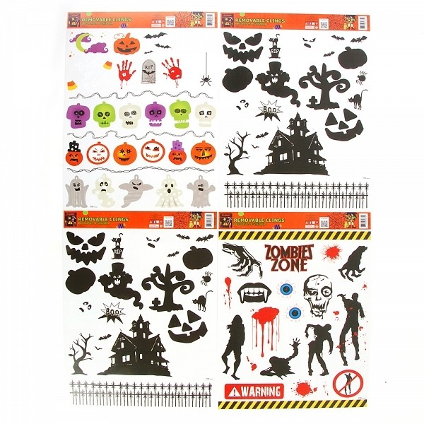 flomo halloween spooky window cling decorations
