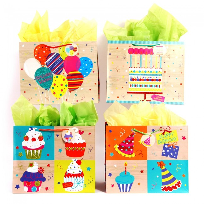 Horizontal Jumbo Birthday Party Cakes Gift Bags By FLOMO