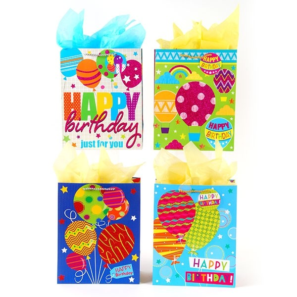 Extra Large Happy Balloons Gift Bags By FLOMO