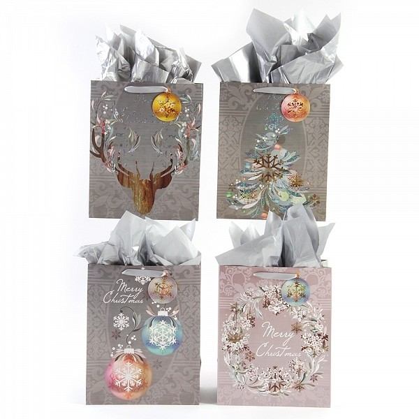 Large christmas sophistication hologram foil gift flomo large christmas sophistication hologram foil gift bags negle Images