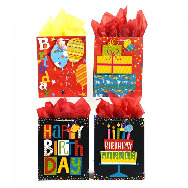 FLOMO Large Pop Layer Balloon Superstars Birthday Gift Bags