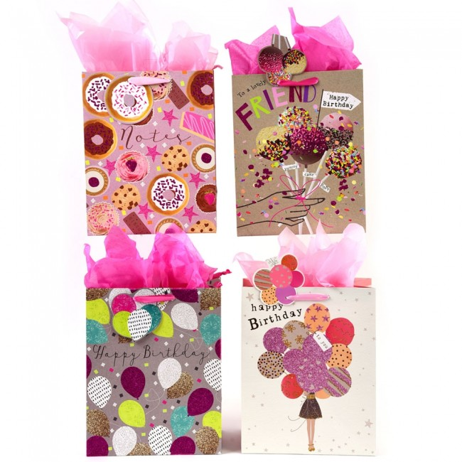 Extra Large Sweet Balloon Birthday Glitter Luxury Gift Bags By FLOMO Zoom