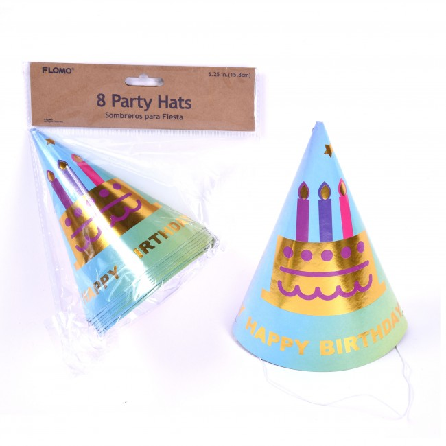 Rainbow Ombre Birthday Party Hats By FLOMO Zoom