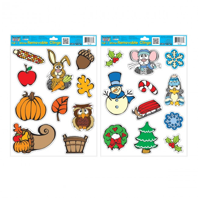 Christmas Wall Clings Reusable