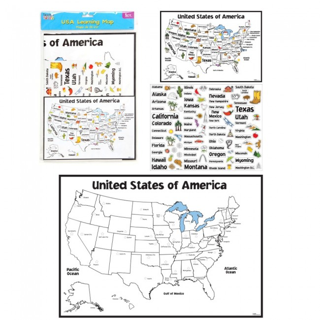 Map Of Country Usa.Teacher Building Blocks Usa Learning Map