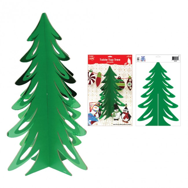 Green Hot Stamp Cardboard Mini Christmas Tree By Holiday Essentials