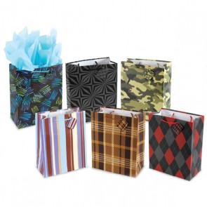 Extra Large Geometric Gift Bags for Men