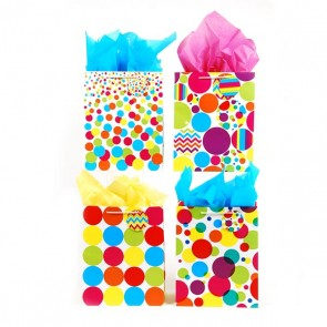Large Dots Gift Bags - Assorted