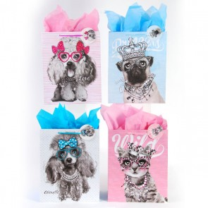 Large Pet Royalty Party Gift Bags - Assorted