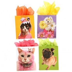 """FLOMO Large """"Pretty Pets"""" Gift Bags"""
