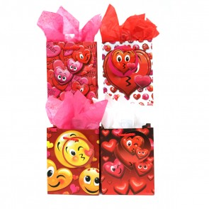 Small 'Smiley Face Valentine' Gift Bags