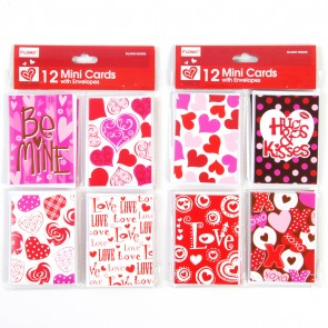 12 Mini Valentine Cards