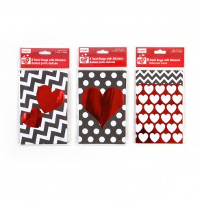 Kraft Valentine's Day Treat Bags - 8ct